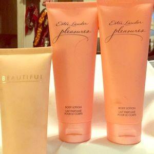 Estee Lauder pleasures and beautiful body lotion